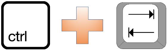 Hurtigtaster som bedrer effektiviteten, En tastekombinasjon for å skifte mellom åpne Excel-filer.