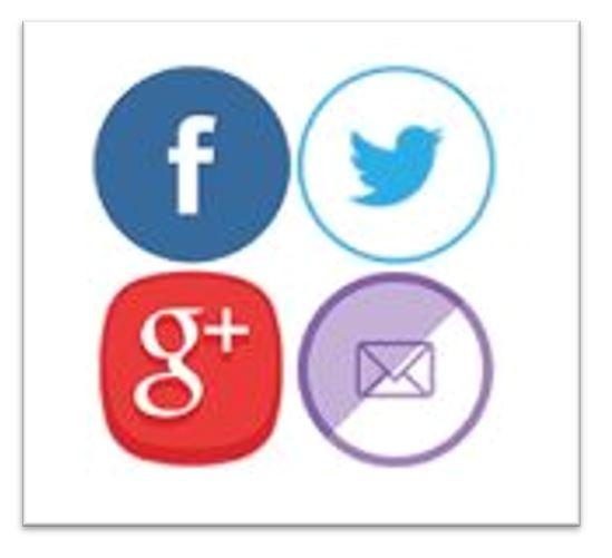 Foretrukne utvidelser for WordPress, Sosiale medier linker.