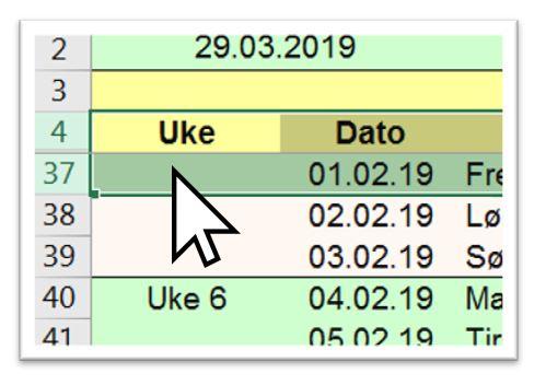 Hvordan skjule og vise rader i Excel